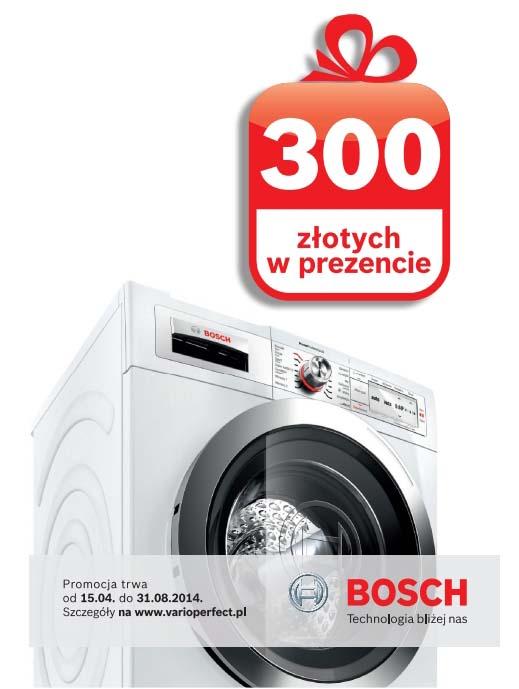 Kup pralkę z systemem VarioPerfect i odbierz premię w wysokości 300 zł @ Bosch