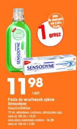Pasta Sensodyne odbudowa i ochrona + za 1 gr płyn Sensodyne @Leclerc