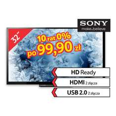 "Telewizor Sony 32"" KDL-32R415 za 999zł (TV LED, HD Ready, 100 Hz) @ Tesco"