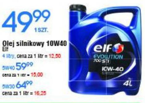 Olej silnikowy Elf Evolution 700 STI 10W40 4L @E.leclerc