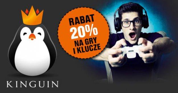 Rabat 20% na gry i klucze w Kinguin