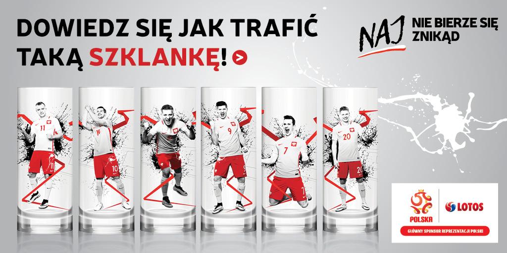 szklanki z piłkarzami za tankowanie na Lotosie