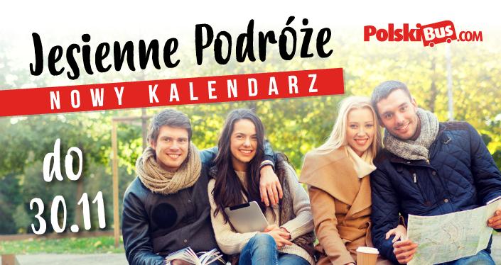 Nowa pula biletów od PolskiBus.com od 1zł, od 7 września do 30 listopada