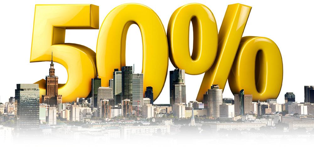 50% mniej za każdy kurs (Warszawa) @ mytaxi