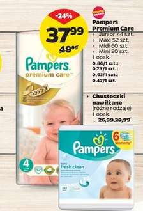 [Od 10 lipca] Pieluszki Pampers Premium Care za 37,99zł @ Netto