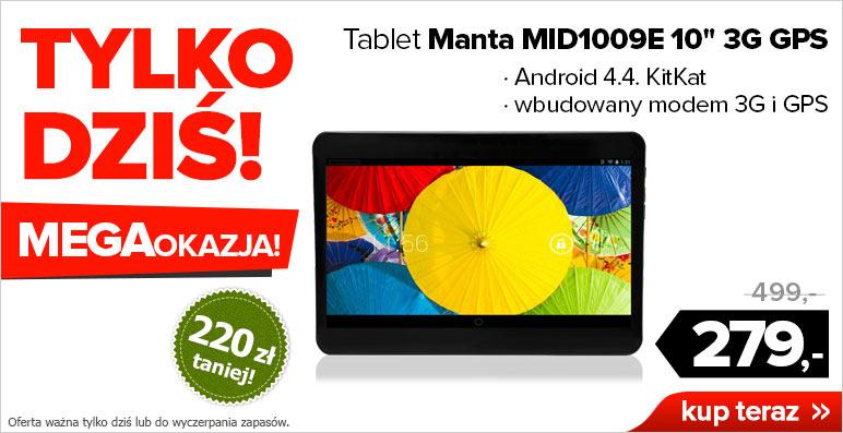 TYLKO DISIAJ! Tablet Manta MID1009 (10-cali, modem 3G) za 279zł @ Agito