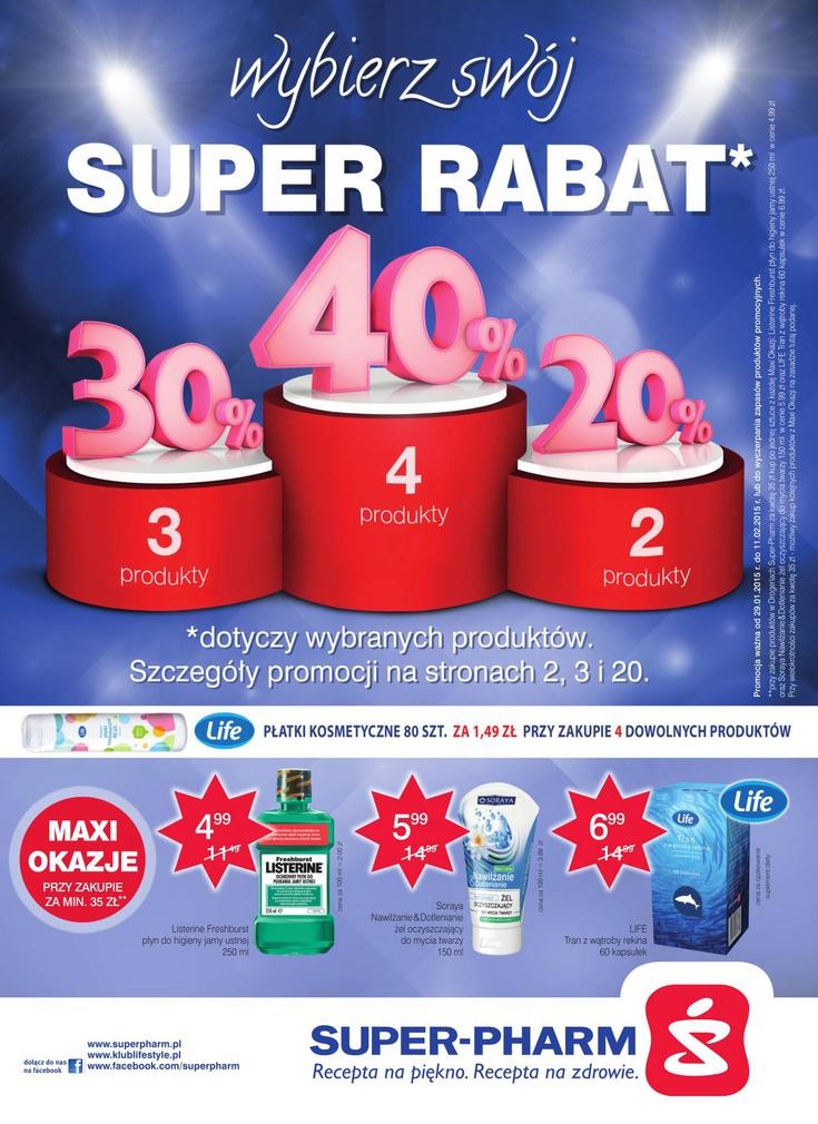 Do 40% rabatu na wybrane produkty @ Superpharm