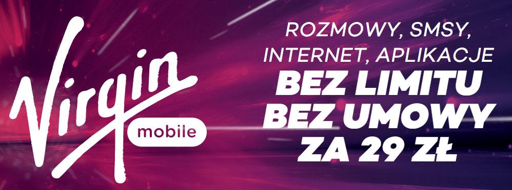 Rozmowy, SMSy, internet, aplikacje BEZ LIMITU za 29zł @ Virgin Mobile