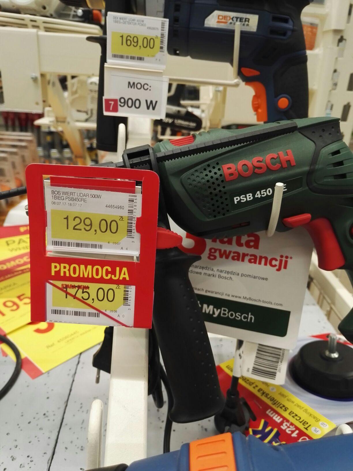 Wiertarka Bosch PSB 450 re udarowa. Według jednej z ofert peppera,  podobna jest dostępna na Amazonie za 131zl. Po co czekać jak można kupić stacjonarnie