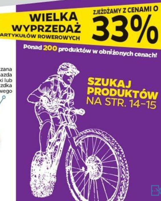 Wielka wyprzedaż artykułów rowerowych @Netto