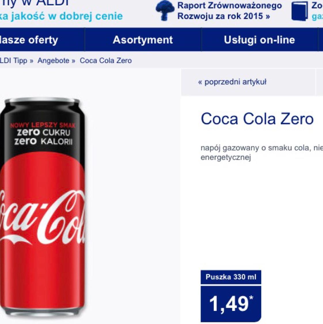 Coca-Cola Zero, Fanta puszka 330 ml Aldi