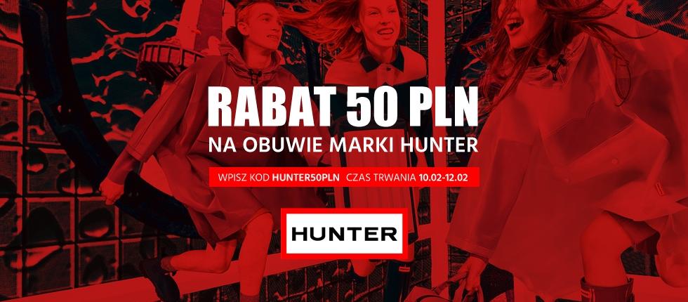 50zł zniżki na obuwie marki Hunter @ E-buty