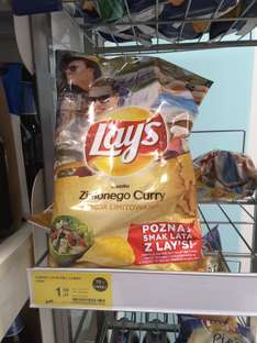 Chipsy Lays Ziolone Curry Tesco