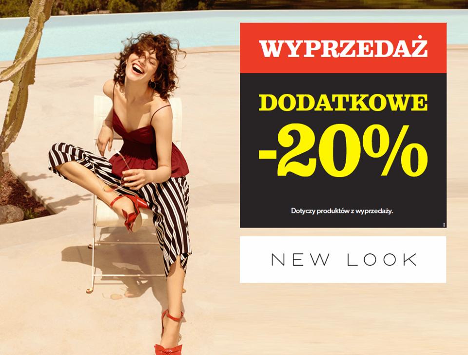 Dodatkowe -20% na produkty z wyprzedaży @ New Look