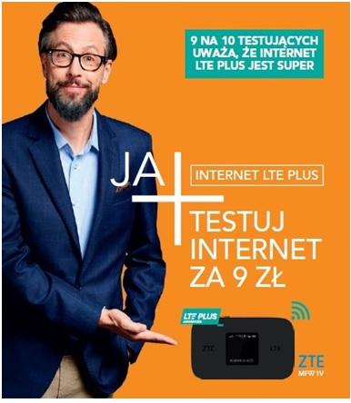 Plus i CP - powraca promocja Testuj Internet LTE Plus za 9 zł