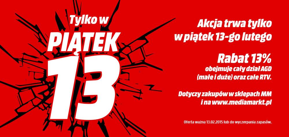 13% zniżki na sprzęt AGD i RTV (DZIŚ) @ Media Markt