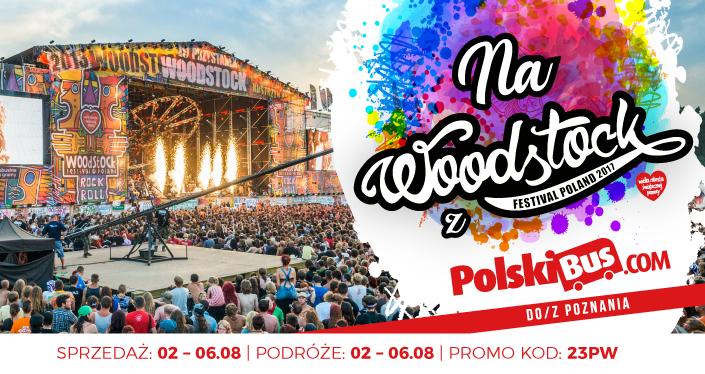 Na Woodstock z PolskiBus.com!  23% zniżki na bilety do Poznania!