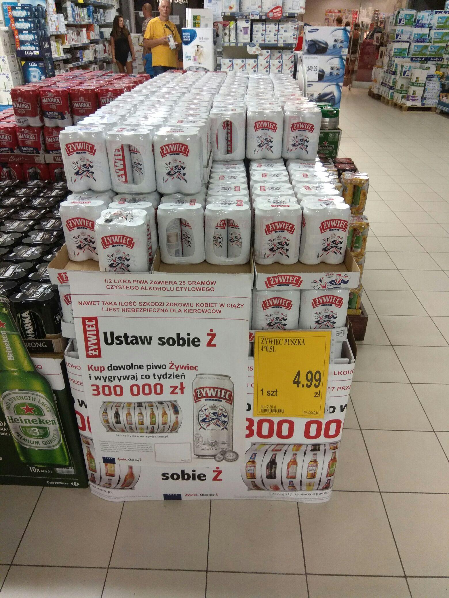Piwo Żywiec 4x 0,5l puszka