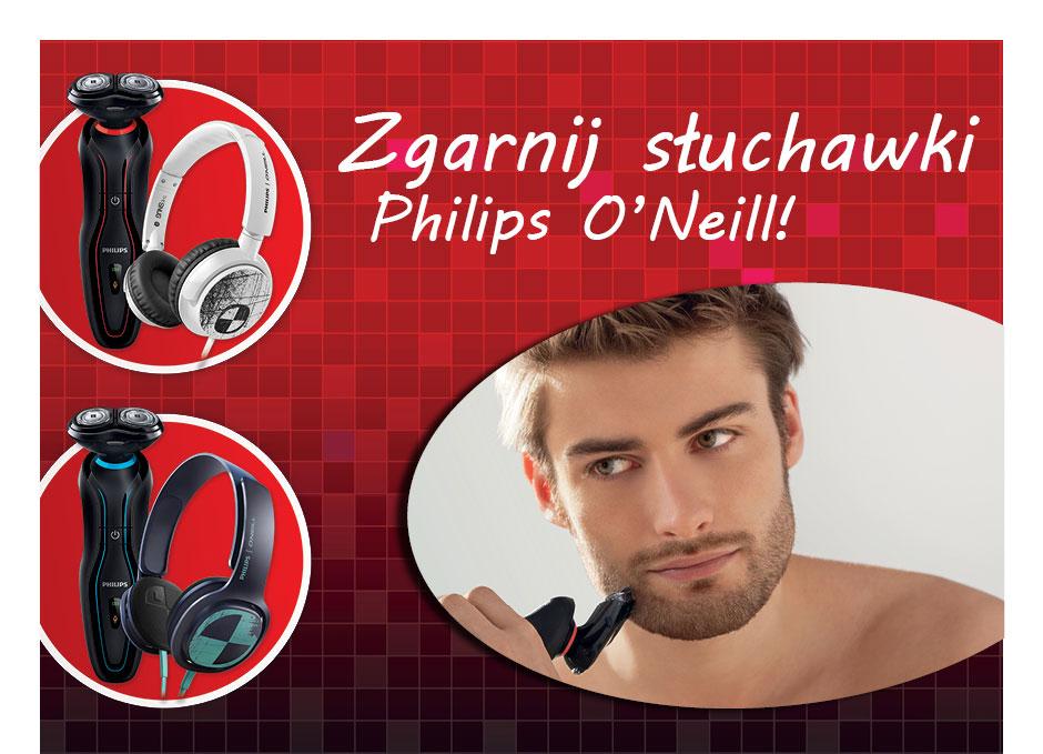 Przy zakupie golarki słuchawki Philips O'Neill GRATIS @ RTV EURO AGD