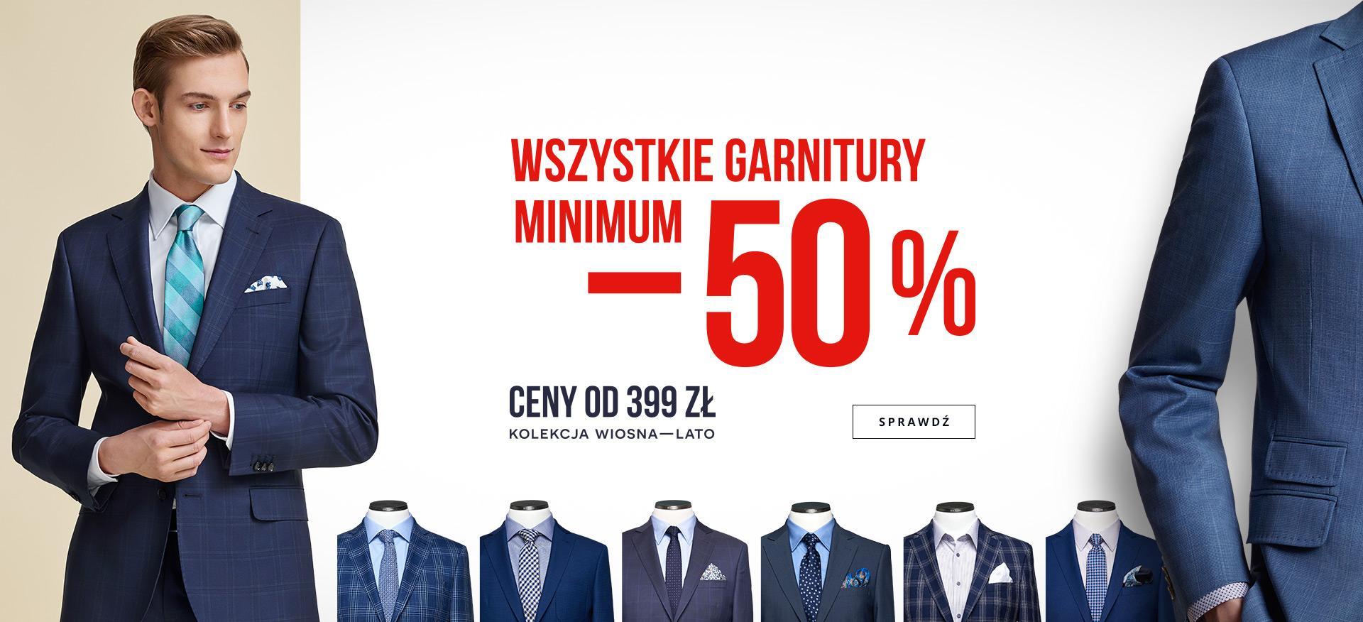Wszystkie garnitury minimum 50% taniej @ Bytom