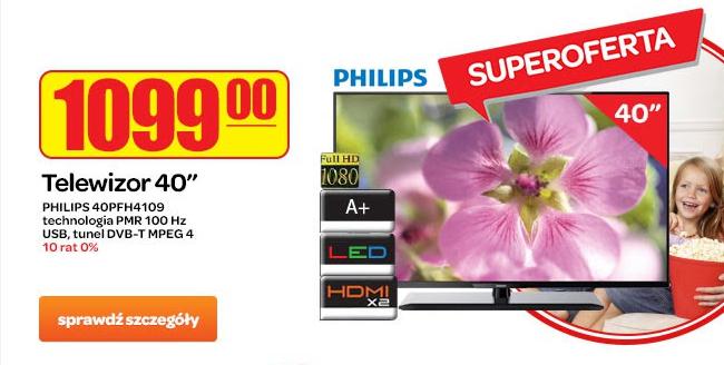 40 calowy telewizor LED FULL HD marki Philips za 1099zł! @ Carrefour