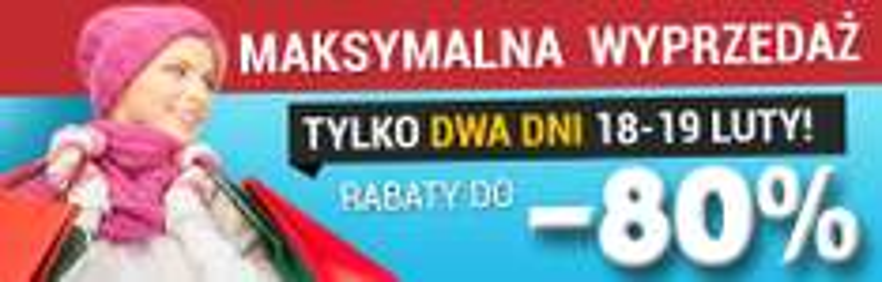 "(18-19 luty) Wyprzedaż -80% (np.: Panasonic 42"" LED TX-42AS520E za 1450zł) @ Agito.pl"