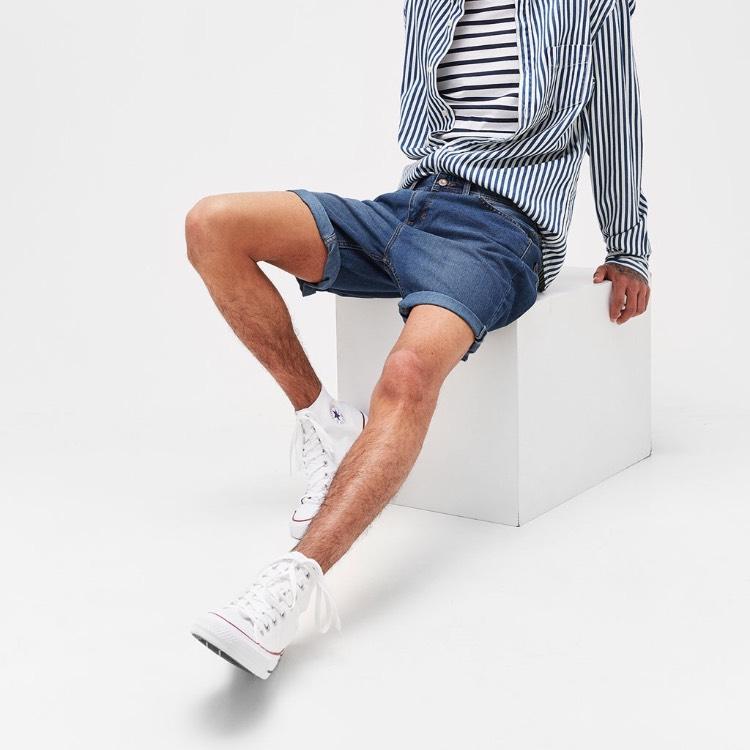 Klasyczne jeansowe bermudy @Bershka