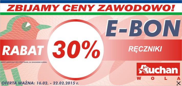 Bony na 30% zniżki w Warszawie Woli @ Auchan