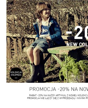 Rabat 20% na produkty z nowej kolekcji @ Reserved