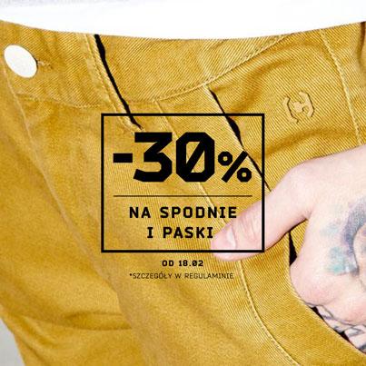 -30% na spodnie i paski @ Cropp