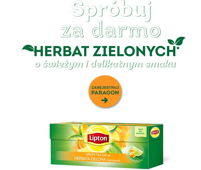 Spróbuj za darmo herbat Lipton @BIEDRONKA