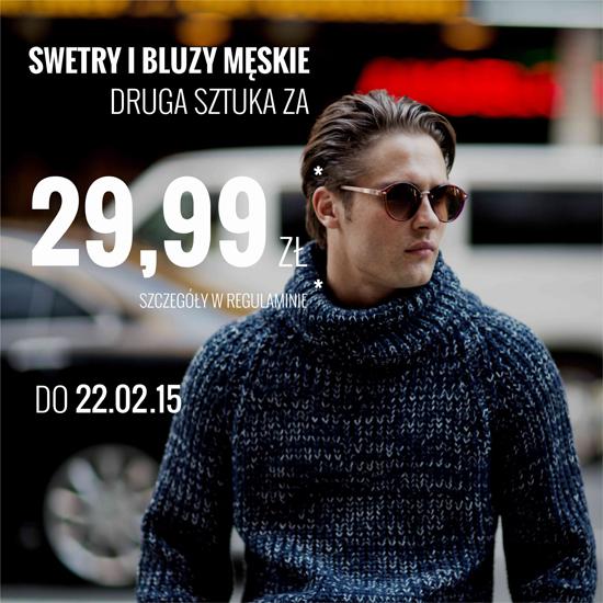 Swetry i bluzy męskie - druga sztuka za 29,99zł @ House