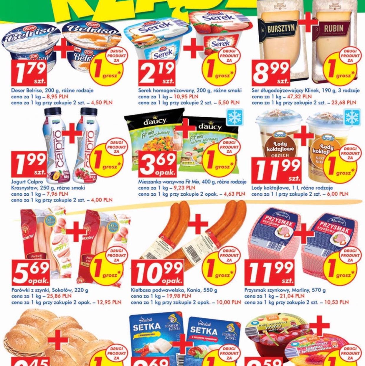"""Wiele produktów w Auchan w ofercie """"drugi za 1 grosz"""""""