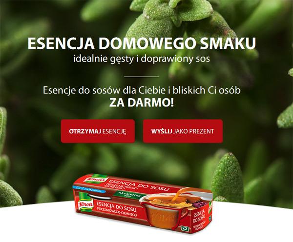 2 opakowania esencji Knorr (łącznie 4kubeczki) oraz książeczka z przepisami ZA DARMO @ Knorr