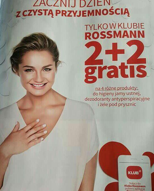2+2 produkty do higieny jamy ustnej dezodoranty żele @Rossman OD 9.09!