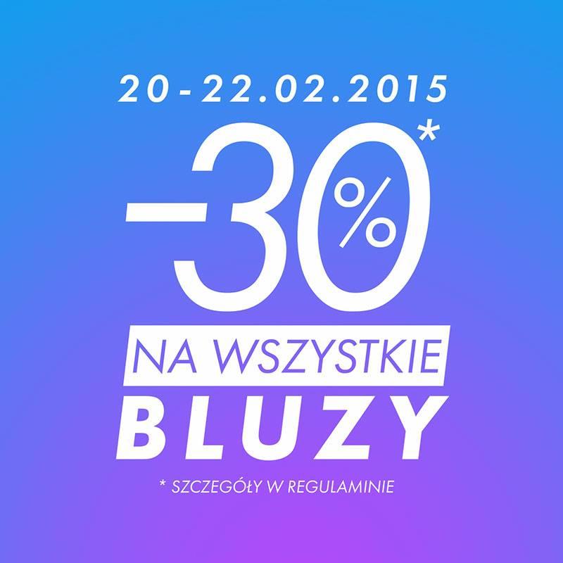 -30% na wszystkie bluzy @ Sinsay