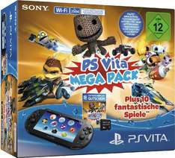 PlayStation Vita 2000 Slim WiFi + 8 GB Memory Card + Mega Pack Voucher (10 gier!) za 510zł @ Amazon.de