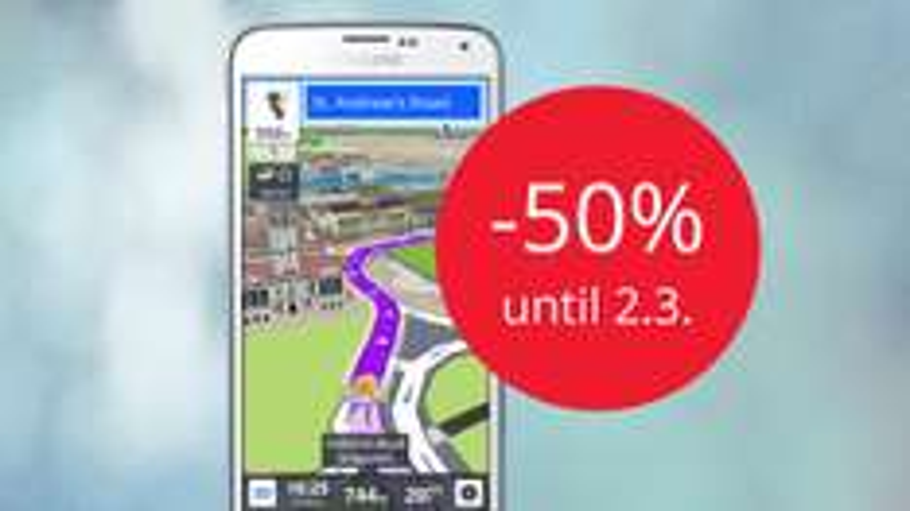 do -50% na mapy GPS dla systemu Android @ Sygic