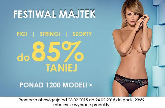 Cenowe obniżki sięgające 85% na: figi, stringi i szorty @ Kontri