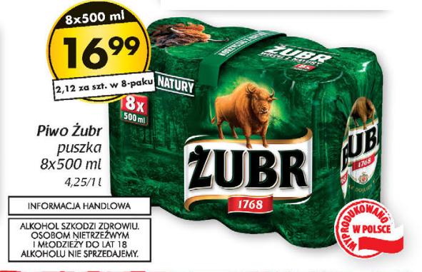 8-pak piwa Żubr za 16,99zł @ Netto