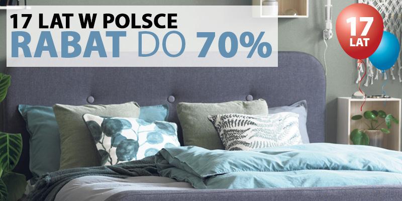 Rabat do 70% - 17 lat JYSK w Polsce. Od ręczników po meble