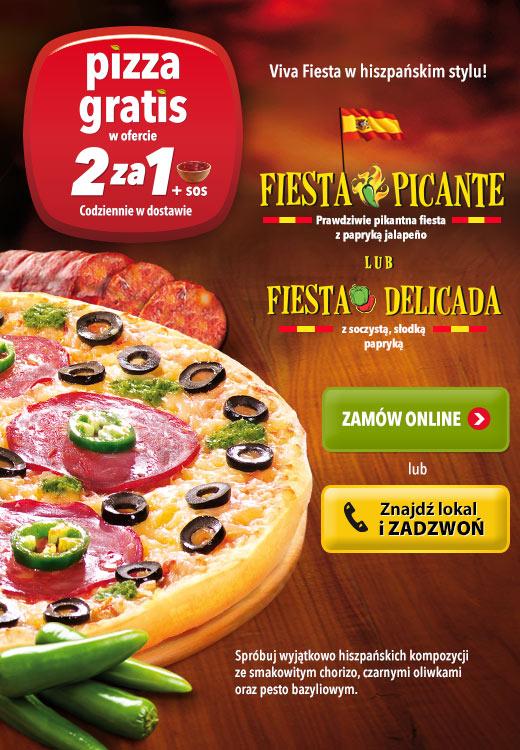 2 pizze w cenie 1 @ Telepizza