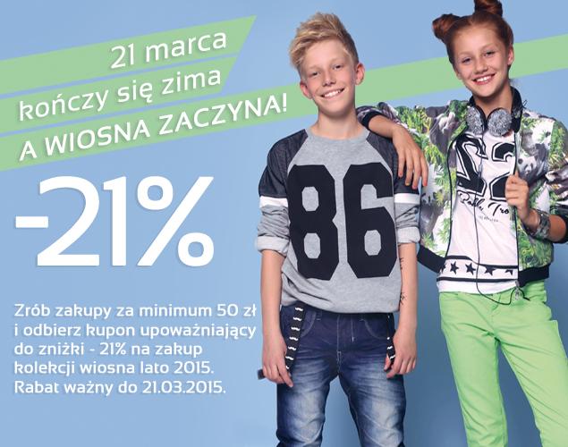 Rabat -21% na nową kolekcję @ Reporter Young