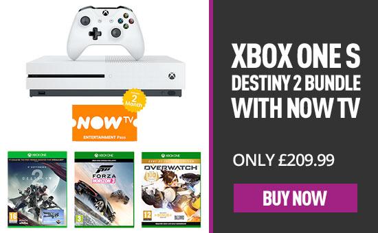 Xbox one s 500GB + Destiny 2 + Overwatch GOTY + Forza Horizon 3