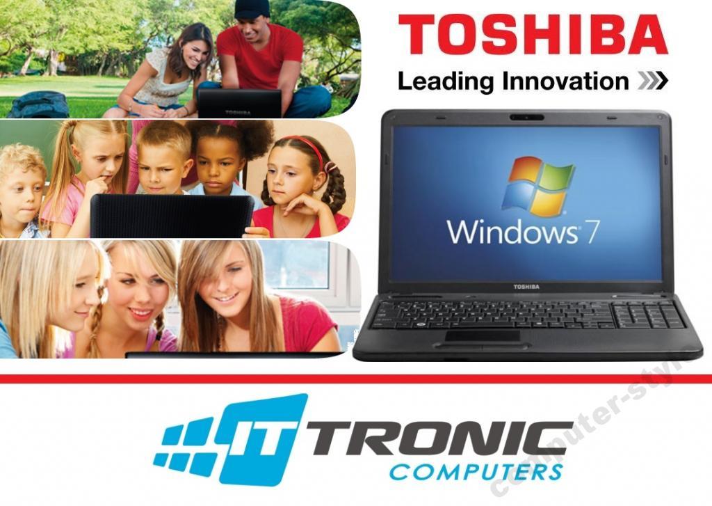 Laptop TOSHIBA C660 (2x2,1Ghz, 2GB ram, 250GB dysk, kamera, Windows 7) za 555zł @ Allegro