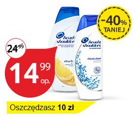 szampon przeciwłupieżowy Head & Shoulders 600ml, 40% taniej @ Tesco