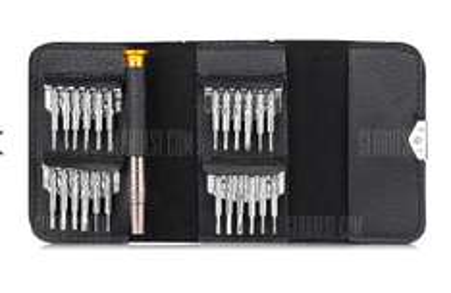 Zestaw śrubokrętów/wkrętów precyzyjnych 25 w 1 za 1,99$ (~7zł) @ Gearbest