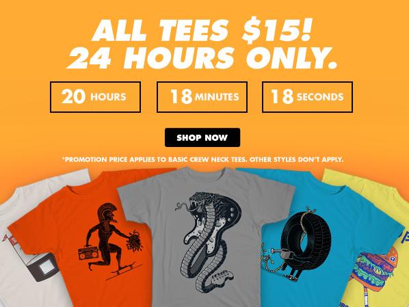 WSZYSTKIE koszulki przecenione do maksymalnie 15$ @ Threadless