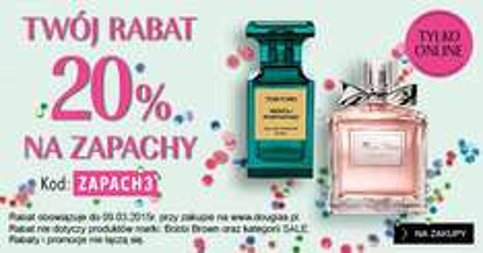 -20% na zapachy + GRATIS do zakupów @ Douglas