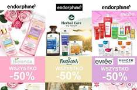 -50% na wszystkie produkty marki Bielenda, Farmona, Mincer i Evree @ Endorphine (Galeria Katowicka)